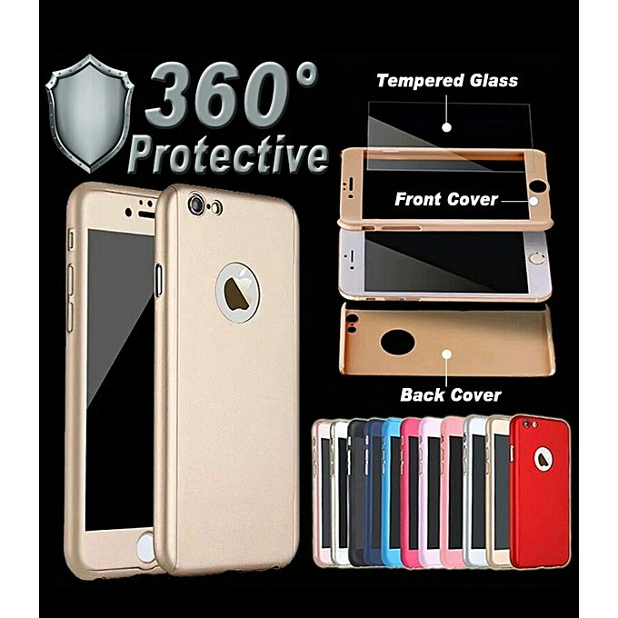 coque protection 360 gold pour iphone 6 6s verre incassable t l phones tablettes jumia maroc. Black Bedroom Furniture Sets. Home Design Ideas