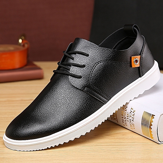 Other New Stylish Men's Breathable British tide Leather chaussures à prix pas cher
