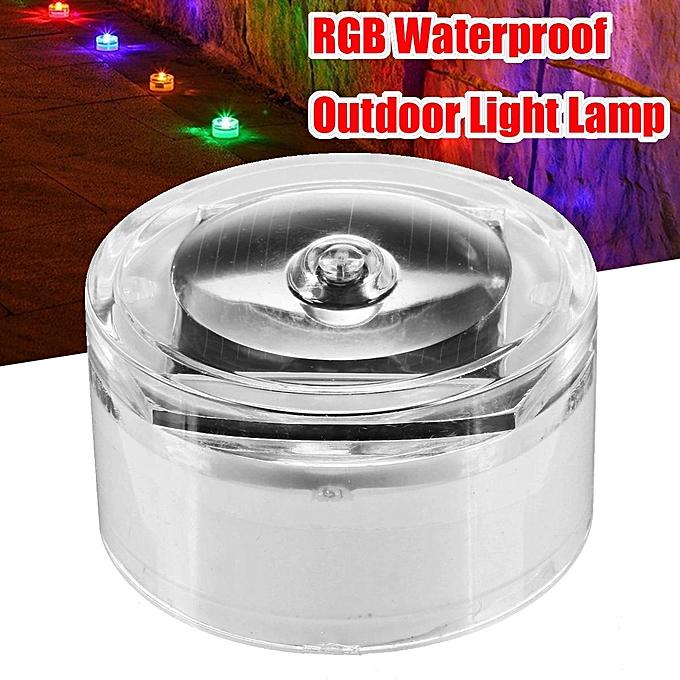 UNIVERSAL Solar Power RGB LED Night Light Garden Pool View Buried Square Lamp Waterproof à prix pas cher