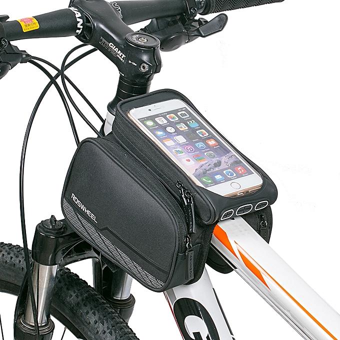 UNIVERSAL ROSWHEEL 5.7 inch Touch Screen Bike Phone Pouch Waterproof MTB Road Bike Cycling Top Frame Tube Bag à prix pas cher