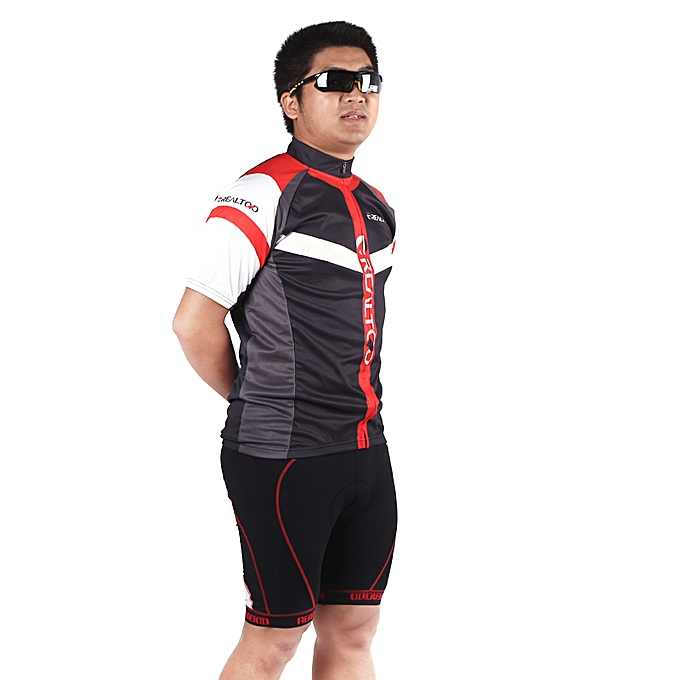 Other Men's Cycling Jersey Shirt Bike Bicycle rouge noir à prix pas cher