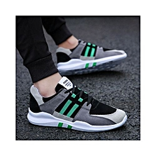f6a01ea04 Autumn And Winter New Color Matching Striped Lace Men's Shoes