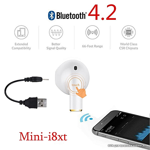 Écouteurs super wireless audio MINI I8XT Intra-Auriculaires sans Fil  Bluetooth pour iPhone Samsung android b884aac47412