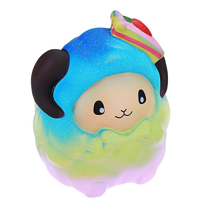 OEM Squishy OverTaille 20cm Strawberry Sheep Couleur Rétro-lente Galaxie Arc-En-Ciel à prix pas cher