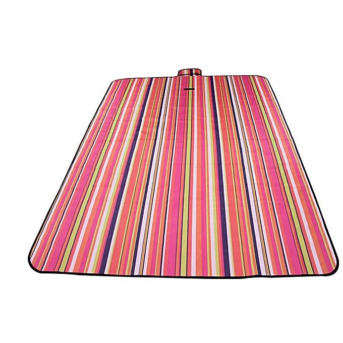 Generic Stripe Pattern Handle Oxford Cloth Beach Mat Blanket Picnic Foldable à prix pas cher