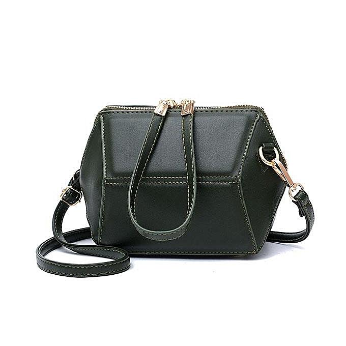Fashion Fashion femmes Retro mini shoulder Cross Body bag New diamond-shaped shell vert à prix pas cher