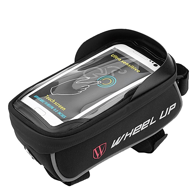 Other Waterproof Bicycle Front Tube Frame Bag Bike Pouch Cell Phone Accessories (noir + gris) à prix pas cher