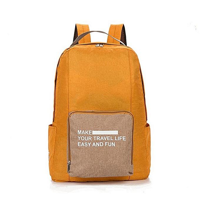 Other Travel Backpack Large Men Lightweight Oxford Cloth Backpack Waterproof Backpack Folding Bag Portable Men femmes Backpack(Orange) à prix pas cher