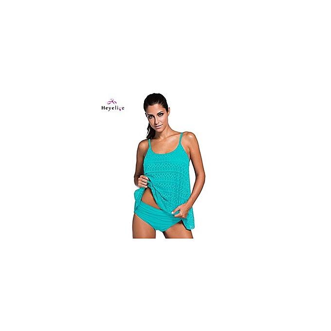 Other Plus Taille Two-Piece Swimwear femmes Lace Tankini Padded Push Up Beach Bathing Suits Vintage Swim Ware New Brazilian Biquinis(sky bleu) à prix pas cher
