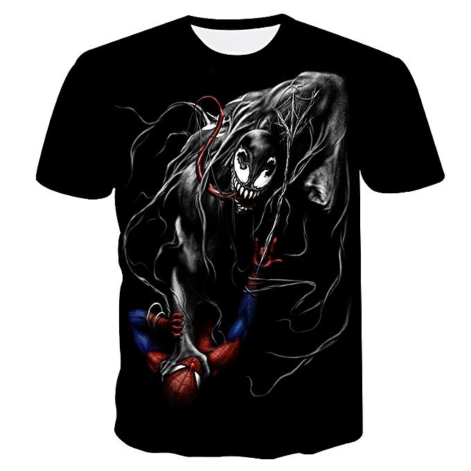 Other 2018 Pour des hommes drôle Shirt Venom Spiderhomme 3D Printed T-Shirts manche courte Tees à prix pas cher