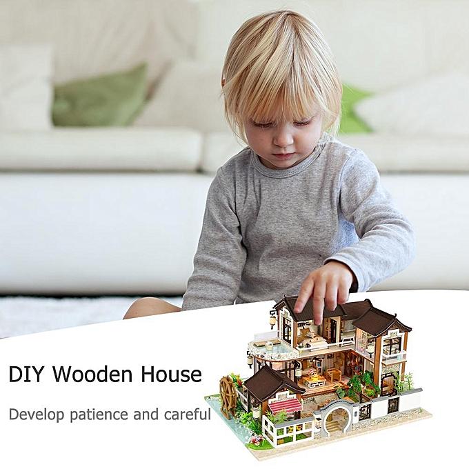 Autre Réunion amour créatif Miniature Meubles Maison De Poupée DIY Maison En Bois Kit Ornements Jouets à prix pas cher