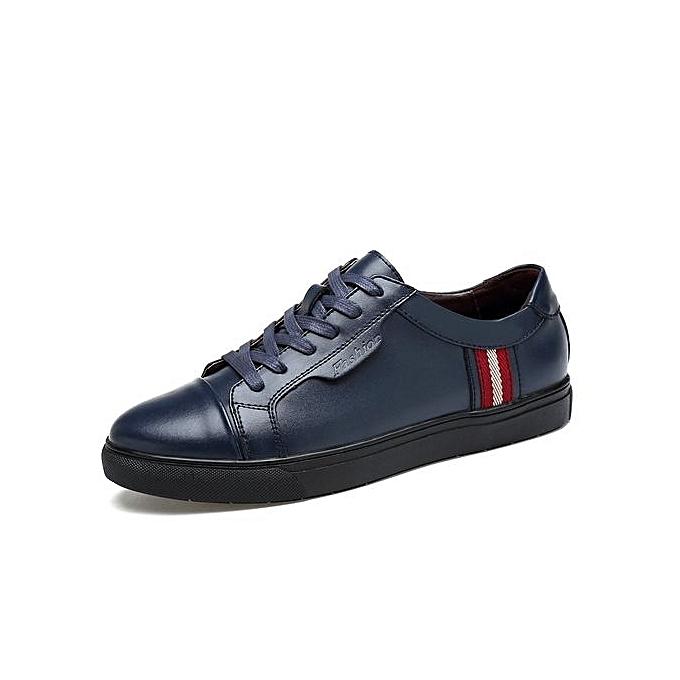 Fashion Mens Lace-Up Leather chaussures baskets Plus Taille-bleu à prix pas cher    Jumia Maroc