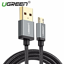 1Meter Micro USB Cable Nylon Braided Fast Quick Charger Cable USB to Micro USB 2.0 Cord