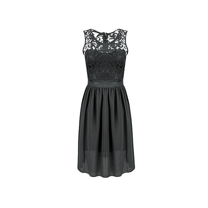 Fashion Vestidos Lace Dress Elegant femmes Short Prom Office Slim Party Dresses Summer 2018 Casual Beach Dress-noir à prix pas cher