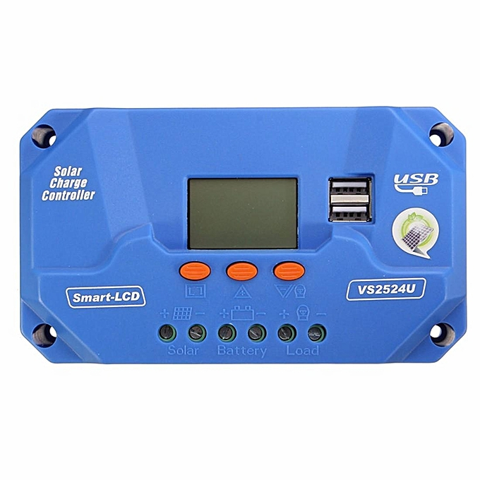 UNIVERSAL 10A 12 24V PWM Solar Panel Battery Regulator Charge Controller bleu à prix pas cher