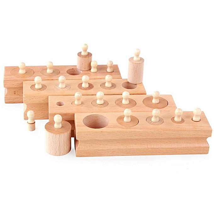 Autre Alink Jouets En Bois Montessori Éducative Cylindre Douille Blocs Jouet Bébé Jouets à prix pas cher
