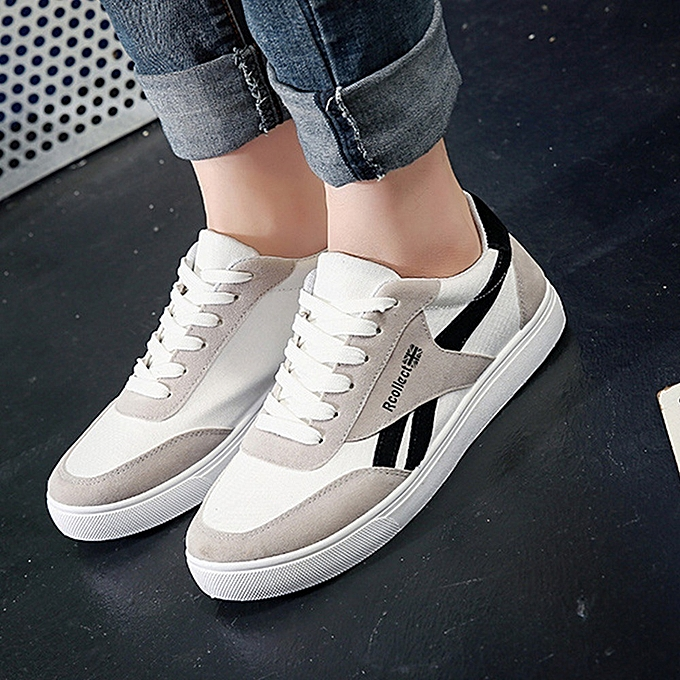 Other New Men Breathable Sports chaussures Student Leisure Canvas chaussures-noir à prix pas cher