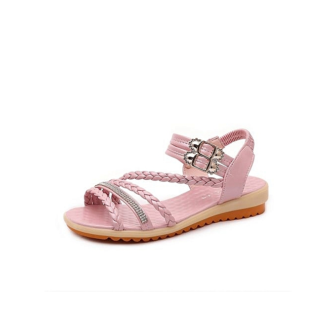 Fashion Blicool Shop femmes Sandals femmes Fashion Summer Slope With Flip Flops Sandals Loafers chaussures PK - rose à prix pas cher