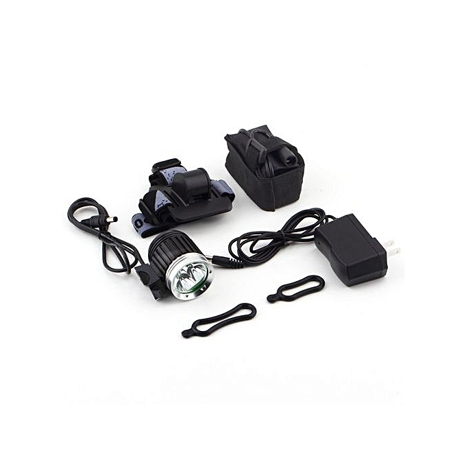 Generic UJ 4000Lm 3x XML Bright T6 LED Bicycle Bike HeadLight Headlamp Flashlight Torch-noir à prix pas cher