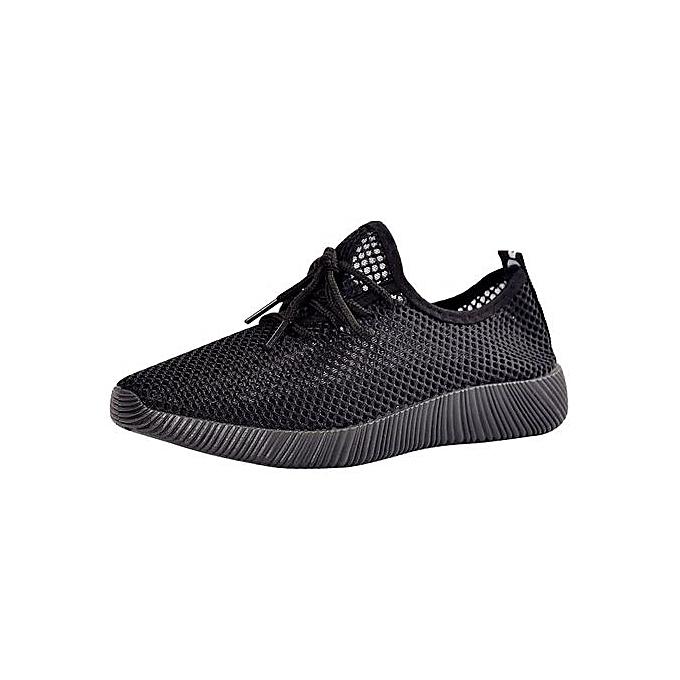 Fashion Xiuxingzi_Men Solid Mesh Cross Tied Ventilation Gym chaussures Running chaussures Casual chaussures à prix pas cher    Jumia Maroc