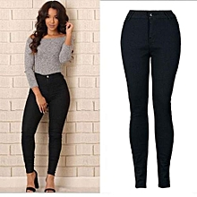 0289d8ede8f14 Xiuxingzi Women Pencil Stretch Casual Denim Skinny Jeans Pants High Waist  Trousers S