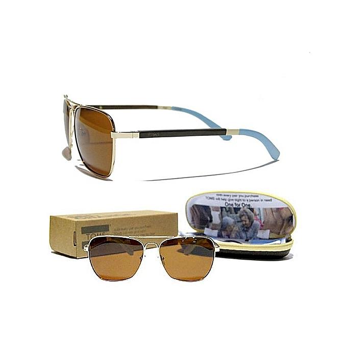 Commandez Toms Lunettes Navigator Polarisé Gold Homme à prix pas ... a59a2d444bf7