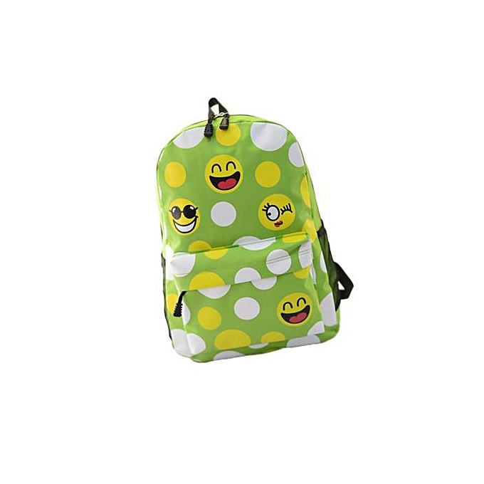 mode Singedanfemmes mode Emoji voyage Satchel School sac sac à dos GN - vert à prix pas cher