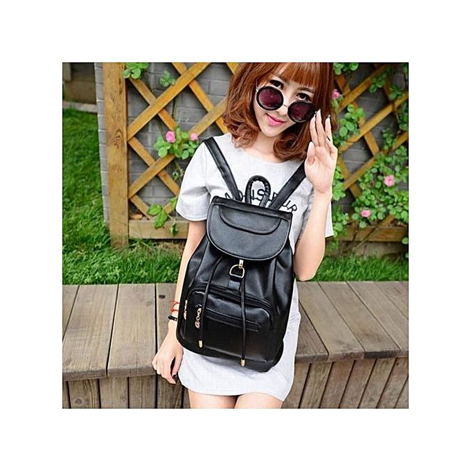 nouveauorldline Vintage Wohommes sac à dos voyage cuir Handsac sac à dos Shoulder School sac BK-noir à prix pas cher