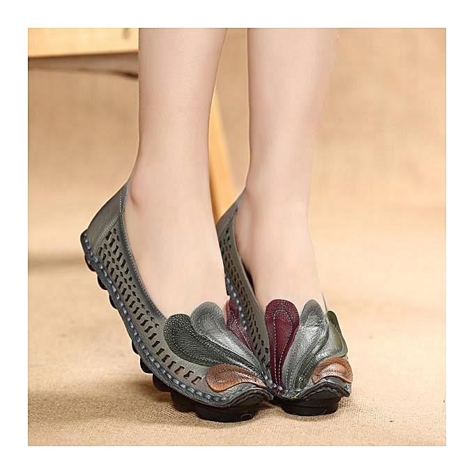 Fashion SOCOFY Fashion WoHommes  Color Color  Blocking Leather Phoenix Retro Flat Lazy Loafers à prix pas cher  | Jumia Maroc da3c43