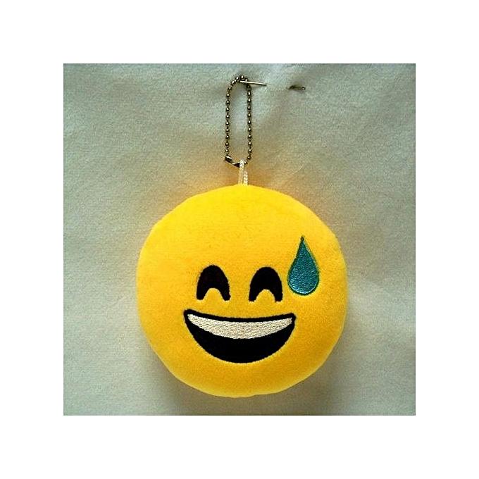 UNIVERSAL Jouet En Peluche Emoji Smiley 4 Pouces - MultiCouleure à prix pas cher