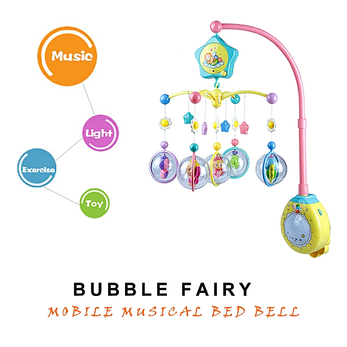 Autre GOODWAY 6917 Music rougeating Rack Couleurful Bubble Fairy Bed Bell Early Educational Toys   Enfants Gift à prix pas cher