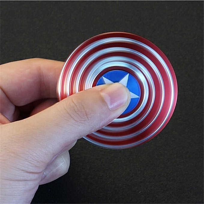 OEM New Manga Toy Captain's Hand Spinner Comics Hand Spinner of The Avengers Aluminum Tri Figet Finger Gyro (Captain America) à prix pas cher