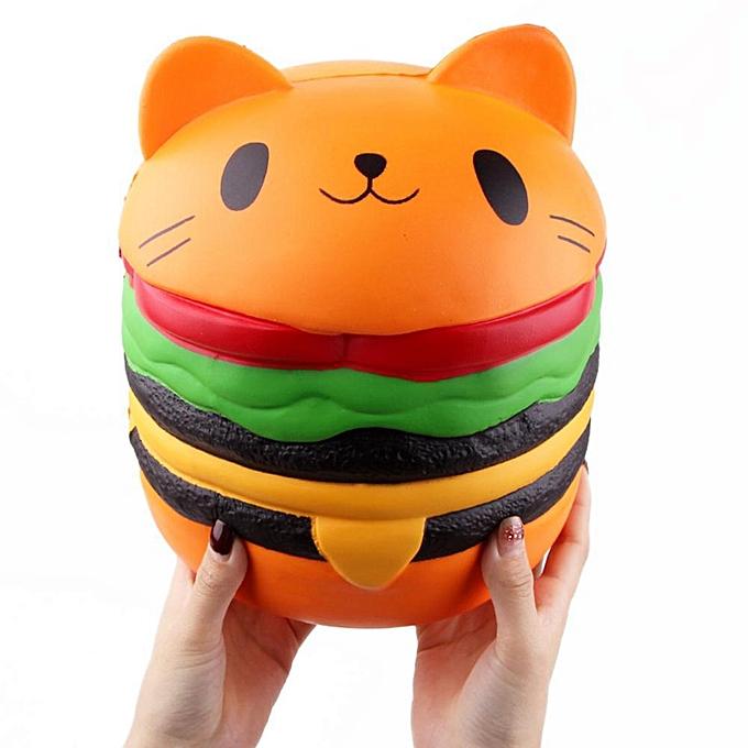 Autre Huilopker ute tête de chat Hamburger Squishy SFaible Rising Squeeze Collection Jouets Cadeau à prix pas cher