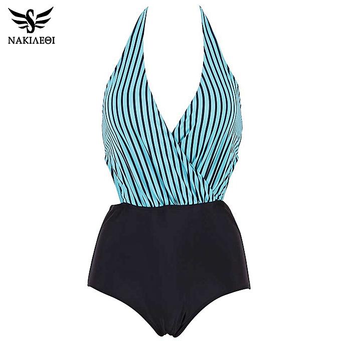 Autre New Swimsuit Taille femmes Swimwear Backless Halter Top Swimsuit Patchwork Bathing Suit Swim Wear(GR) à prix pas cher