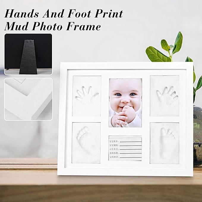 Autre Tri-Fold Couverture En Bois Massif Cadre Photo Handprint Costume De Boue Bébé Infrant DIY Moule à prix pas cher