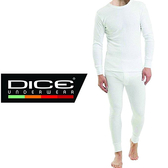 3aa9f9f05aa32 DICE باك ملابس داخلية حرارية للرجال (سروال + تي شيرت طويلة الأكمام ...