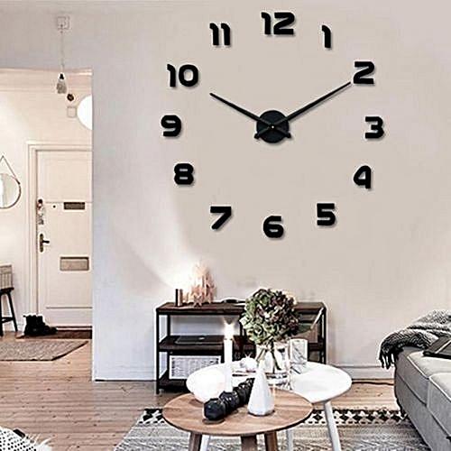 diy horloge murale design 3d 1 m couleur noir mz lux prix pas cher black friday 2018