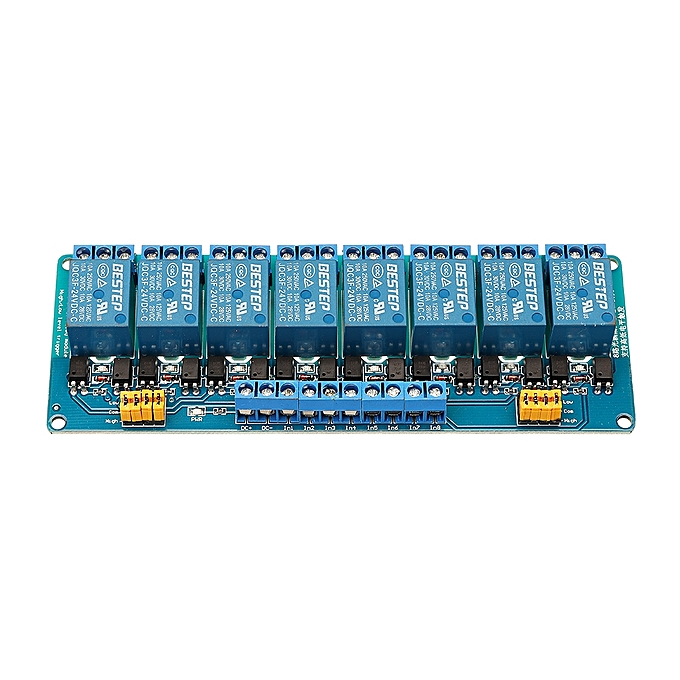 UNIVERSAL BESTEP 8 Channel 24V Relay Module High And Low Level Trigger For Arduino à prix pas cher