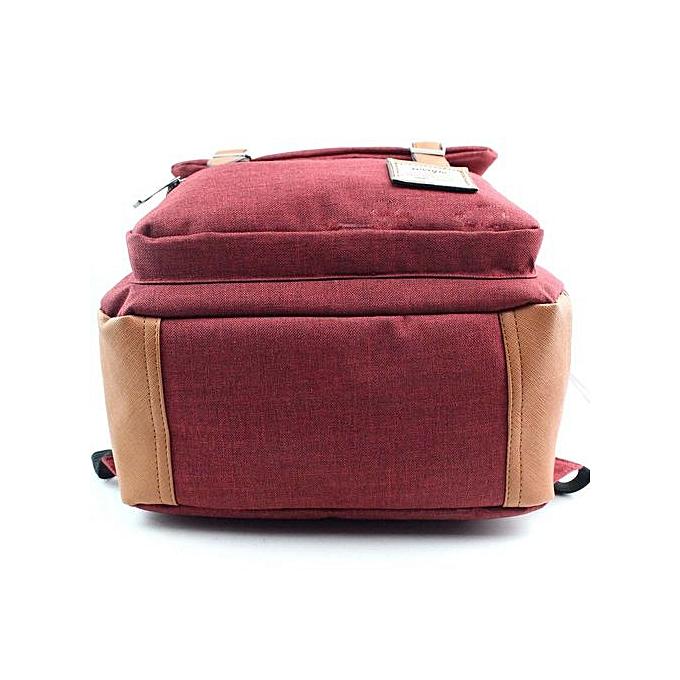 Fashion jiahsyc store femmes Or Men Vintage Canvas Backpacks School Backpacks High Quality RD- rouge à prix pas cher