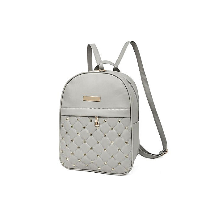 Generic Tectores Fashion Accessories femmes Rivet Backpack Fashion Causal Bags Bead Female Shoulder Bag Backpacks GY à prix pas cher