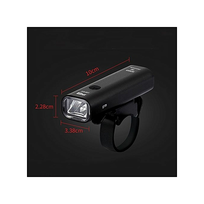 Generic Useful LED USB Rechargeable Cycling Bicycle Bike Head Front Light Lamp Gesmont à prix pas cher