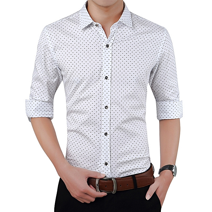 Fashion Summer New Men's Long Sleeve Shirt Cotton Plaid Slim Casual Men Shirt à prix pas cher