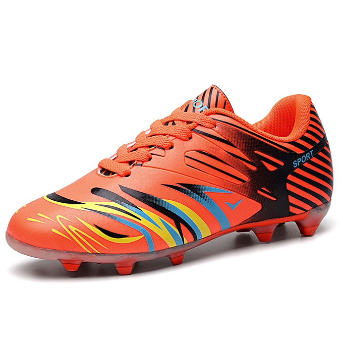 Fashion Men and femmes couples teen spike training bottes soccer chaussures - Orange à prix pas cher    Jumia Maroc