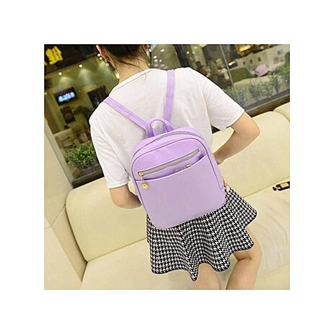 Fashion SingedanGirls Leather School Bag Travel Backpack Satchel femmes Shoulder Rucksack PP -violet à prix pas cher