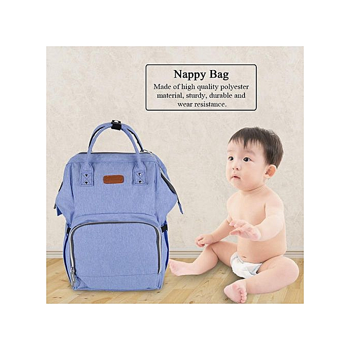 Other Portable Baby Diaper Bag With USB Interface Large Capacity Shoulder Mommy Backpack(Maca violet) à prix pas cher