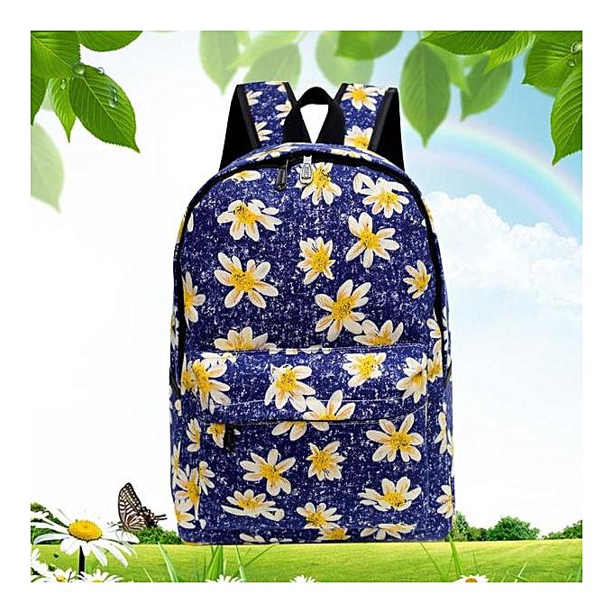 mode Tcetoctre femmes toile sac à dos sac à dos School sac Book Shoulder sac DB-Dark bleu à prix pas cher