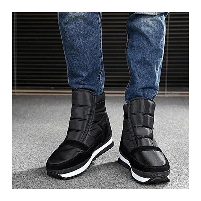 Fashion Fashion   Plush Lining Lining Plush Waterproof Hook Loop Snow Warm Ankle Boots-EU à prix pas cher  | Jumia Maroc e9d110