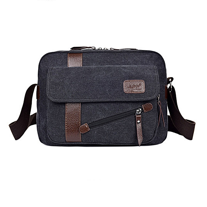Other 2019 new Men bag briefcase canvas business bags luxury high quality laptop briefcase File package Travel Leisure bags(noir) à prix pas cher