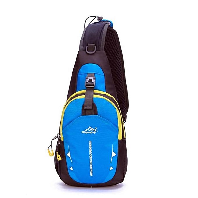 Generic Fovibery Unisex Sports FonctionneHommest imperméable Nylon Cross Body Shoulder Belt Chest sac à prix pas cher