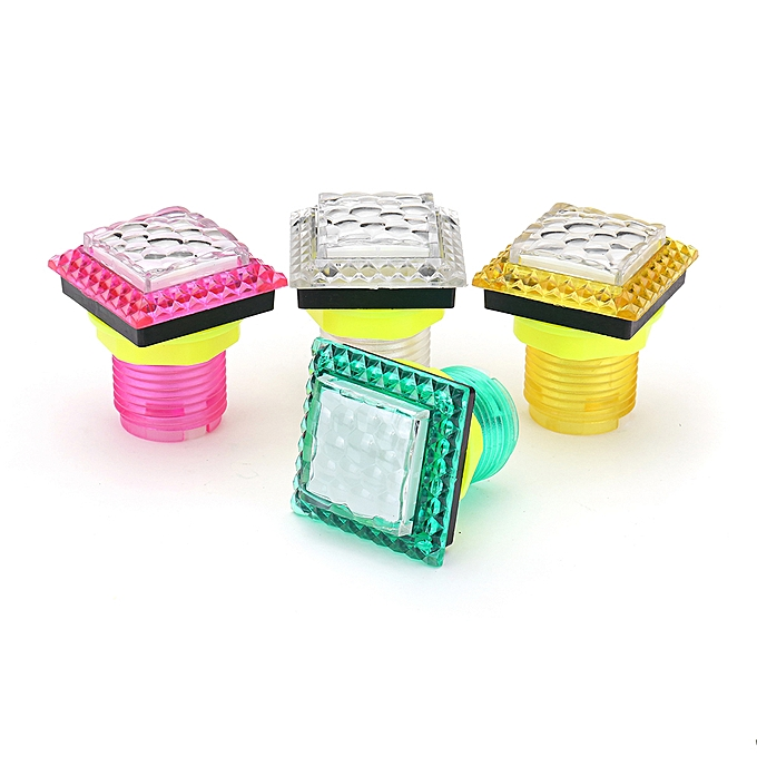 UNIVERSAL 32x32mm Diamond LED lumière Push Button for Arcade Game Console Controller DIY ReplaceHommest-bleu à prix pas cher